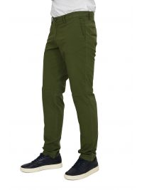 TRUSSARDI JEANS ΠΑΝΤΕΛΟΝΙ CHINO AVIATOR FIT GARMENT DYED ΠΡΑΣΙΝΟ