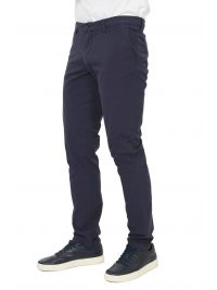 TRUSSARDI JEANS ΠΑΝΤΕΛΟΝΙ CHINO AVIATOR FIT GARMENT DYED  ΜΠΛΕ