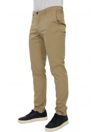 TRUSSARDI JEANS ΠΑΝΤΕΛΟΝΙ CHINO AVIATOR FIT GARMENT DYED  ΜΠΕΖ