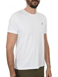 RALPH LAUREN T-SHIRT  LOGO CUSTOM SLIM FIT ΛΕΥΚΟ