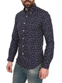 RALPH LAUREN ΠΟΥΚΑΜΙΣΟ BUTTON DOWN ALL OVER PRINT ΜΠΛΕ