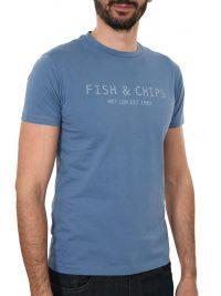 HACKETT T-SHIRT FISH&CHIPS ΣΙΕΛ