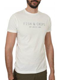 HACKETT T-SHIRT FISH&CHIPS ΛΕΥΚΟ
