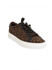 DKNY ΠΑΠΟΥΤΣΙΑ SNEAKERS COURT-LACE UP LOGO ΚΑΦΕ