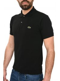 LACOSTE POLO CLASSIC FIT ΜΑΥΡΟ