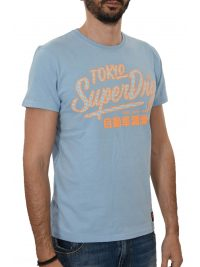 SUPERDRY T-SHIRT ΚΜ ΣΤΑΜΠΑ ΣΙΕΛ
