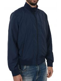 SUPERDRY ΜΠΟΥΦΑΝ BOMBER FLYWEIGHT HARRINGTON ΜΠΛΕ