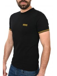 BARBOUR INTERNATIONAL T-SHIRT CABLE TIPPED ΜΑΥΡΟ