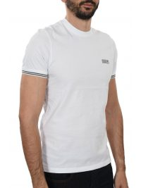 BARBOUR INTERNATIONAL T-SHIRT CABLE TIPPED ΥΠΟΛΕΥΚΟ
