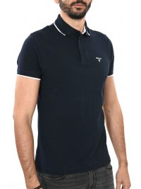 BARBOUR POLO AMBLESIDE TIPPED ΜΠΛΕ