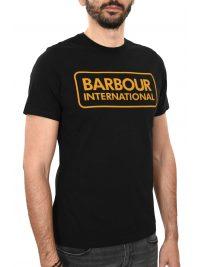 BARBOUR INTERNATIONAL T-SHIRT ESSENTIAL LARGE LOGO ΜΑΥΡΟ