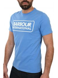 BARBOUR INTERNATIONAL T-SHIRT ESSENTIAL LARGE LOGO ΓΑΛΑΖΙΟ