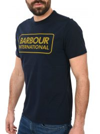BARBOUR INTERNATIONAL T-SHIRT ESSENTIAL LARGE LOGO ΜΠΛΕ