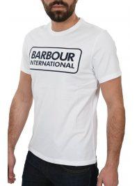 BARBOUR INTERNATIONAL T-SHIRT ESSENTIAL LARGE LOGO ΥΠΟΛΕΥΚΟ