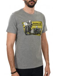 BARBOUR INTERNATIONAL T-SHIRT ARCHIVE TEE ΜΕΛΑΝΖΕ ΓΚΡΙ