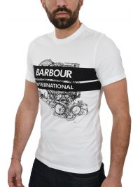 BARBOUR INTERNATIONAL T-SHIRT GAUGE TEE ΛΕΥΚΟ