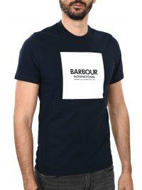 BARBOUR INTERNATIONAL T-SHIRT BLOCK ΜΠΛΕ