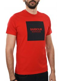 BARBOUR INTERNATIONAL T-SHIRT BLOCK ΚΟΚΚΙΝΟ