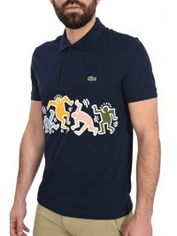 LACOSTE POLO KEITH HARING  ΜΠΛΕ