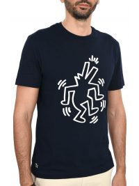 LACOSTE T-SHIRT KEITH HAIRING ΜΠΛΕ