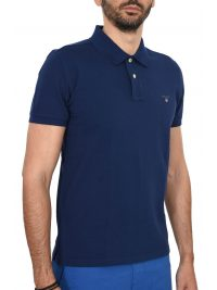 GANT MAN POLO ΚΜ THE ORIGINAL PIQUE RUGGER ΡΟΥΑ ΜΠΛΕ