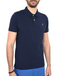 GANT MAN POLO ΚΜ THE ORIGINAL PIQUE RUGGER ΜΠΛΕ