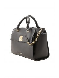 MICHAEL KORS ΤΣΑΝΤΑ SYLVIA MD TZ SATCHEL ΜΑΥΡΟ