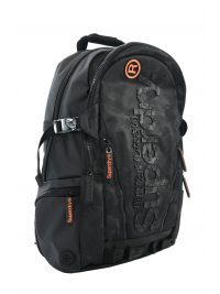 SUPERDRY BACKPACK LOGO ΜΑΥΡΟ