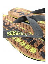 SUPERDRY ΣΑΓΙΟΝΑΡΕΣ CORK COLOUR POP FLIP FLOP ΓΚΡΙ