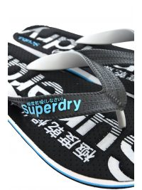 SUPERDRY ΣΑΓΙΟΝΑΡΕΣ SCUBA PERFORATED FLIP FLOP ΜΑΥΡΟ