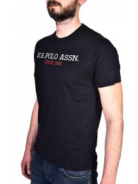 U.S. POLO ASSN T-SHIRT INSTITUTIONAL LOGO ΜΠΛΕ