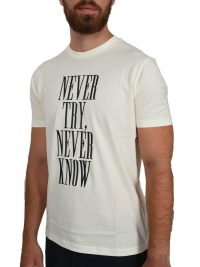EMPORIO ARMANI T-SHIRT NEVER TRY ΚΝΟW ΥΠΟΛΕΥΚΟ
