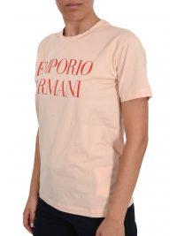 EMPORIO ARMANI T-SHIRT LOGO ΡΟΖ