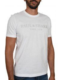 PAUL&SHARK T-SHIRT LOGO ΛΕΥΚΟ
