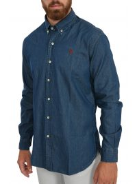 U.S. POLO ASSN ΠΟΥΚΑΜΙΣΟ BUTTON DOWN JEANS LESTER ΜΠΛΕ