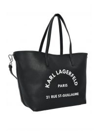 KARL LAGERFELD ΤΣΑΝΤΑ SHOPPING LOGO RUE ST GUILLAUME ΜΑΥΡΟ