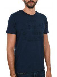 SUPERDRY TSHIRT SHOP EMBOSSED LOGO ΜΠΛΕ