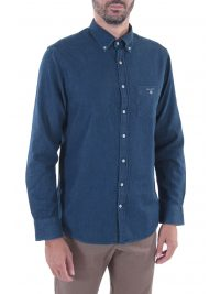 GANT ΠΟΥΚΑΜΙΣΟ JEANS THE INDIGO REG BUTTON DOWN ΜΠΛΕ