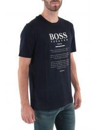 BOSS BUSINESS T-SHIRT TIBURT 140 ΜΠΛΕ
