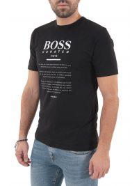 BOSS BUSINESS T-SHIRT TIBURT 140 ΜΑΥΡΟ