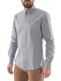 BARBOUR ΠΟΥΚΑΜΙΣΟ GINGHAM BUTTON DOWN TAILORED FIT ΚΑΡΩ ΓΚΡΙ