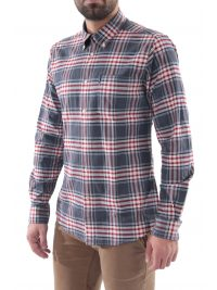 BARBOUR ΠΟΥΚΑΜΙΣΟ HIGHLAND BUTTON DOWN TAILORED FIT ΚΑΡΩ ΓΚΡΙ-ΚΟΚΚΙΝΟ