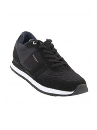 HACKETT ΠΑΠΟΥΤΣΙΑ SNEAKERS EYELET TRAINERS ΜΑΥΡΟ
