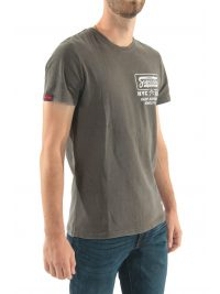 SUPERDRY TSHIRT DEMOLITION CREW LOGO ΜΑΥΡΟ