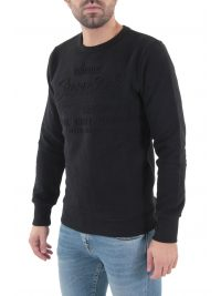 SUPERDRY ΦΟΥΤΕΡ C-NECK SWEAT SHIRT SHOP EMBOSSED CREW ΜΑΥΡΟ