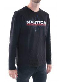 NAUTICA T-SHIRT LOGO ΜΑΥΡΟ