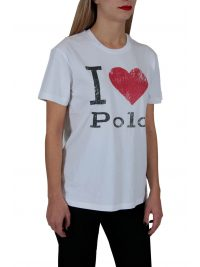 RALPH LAUREN T-SHIRT I LOVE POLO  ΛΕΥΚΟ