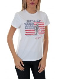 RALPH LAUREN T-SHIRT POLO 67 NEW YORK ΛΕΥΚΟ