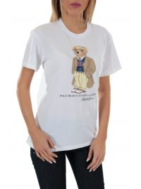 RALPH LAUREN T-SHIRT POLO BEAR ΛΕΥΚΟ
