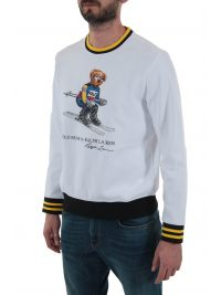 RALPH LAUREN ΦΟΥΤΕΡ CREW NECK BEAR SKI HOLIDAY ΥΠΟΛΕΥΚΟ